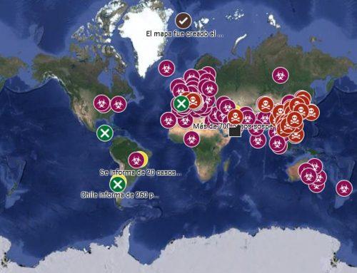 Coronavirus mapa del contagio en tiempo real,