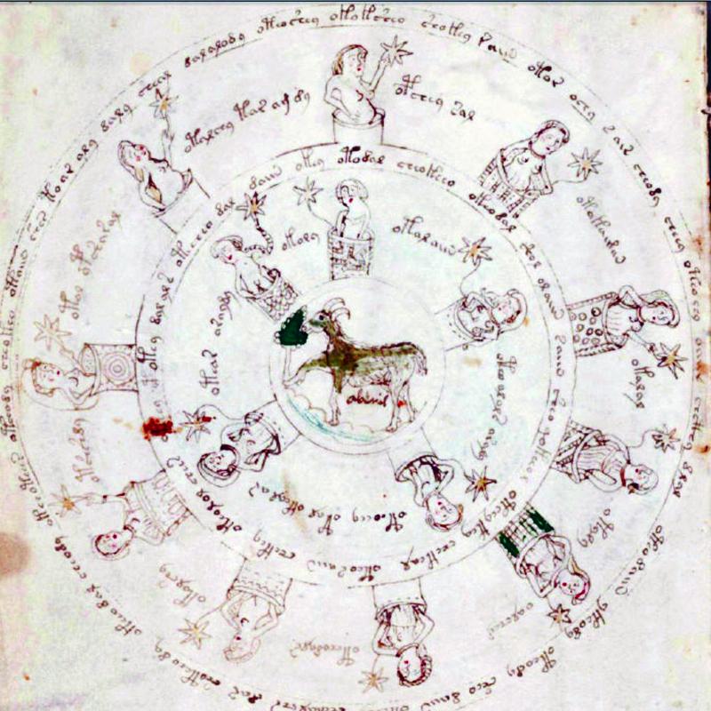 El manuscrito de Voynich circulo