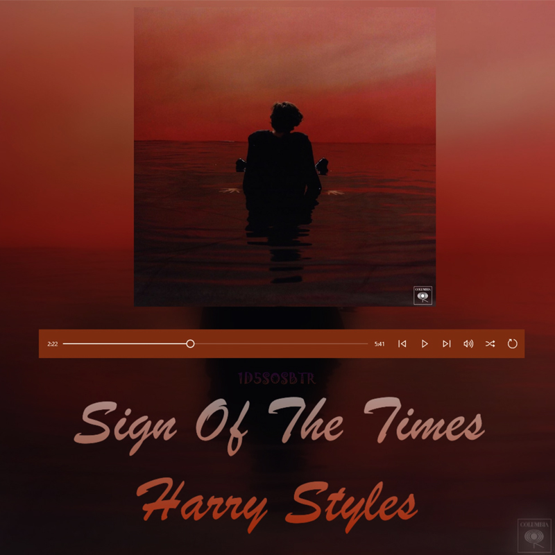 Harry Styles fine line sign of the time