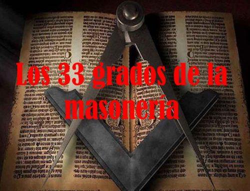 Los 33 grados de la masonería, la evolución del espíritu humano