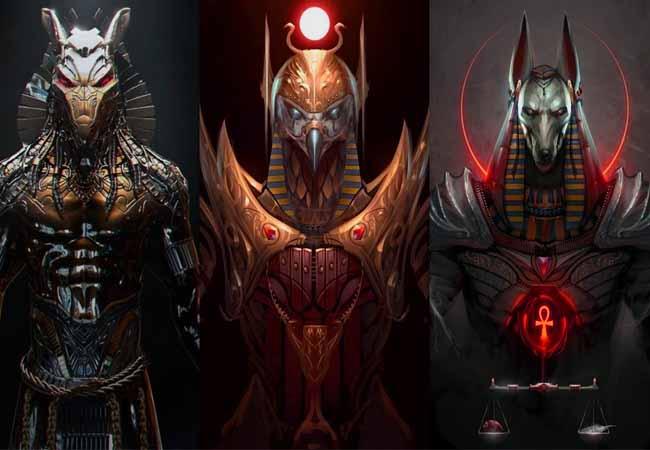 Dioses egipcios triada principal