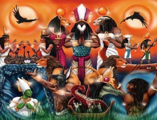 Los dioses egipcios triada de tebas